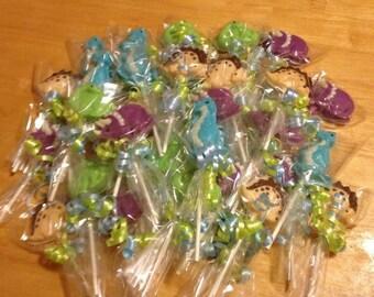 Dinosaur Chocolate lollipops