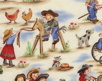 Lil Cowgirls Premium Cotton Fabric by Michael Miller Fabrics