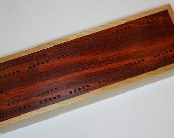 Apollo Cribbage Board with sliding bottom