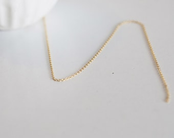 Golden chain 16 k 1 m - 1/2 mm / 16 K gold plated chain