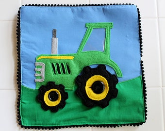 Felt Tractor Things that Go Quiet Book PATTERN