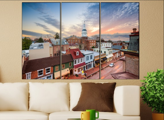 Annapolis  canvas wall art skyline Annapolis wall decoration Annapolis canvas wall art art Annapolis  wall decor canvas wall art art