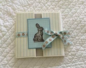 Blue bunny flip scrapbook