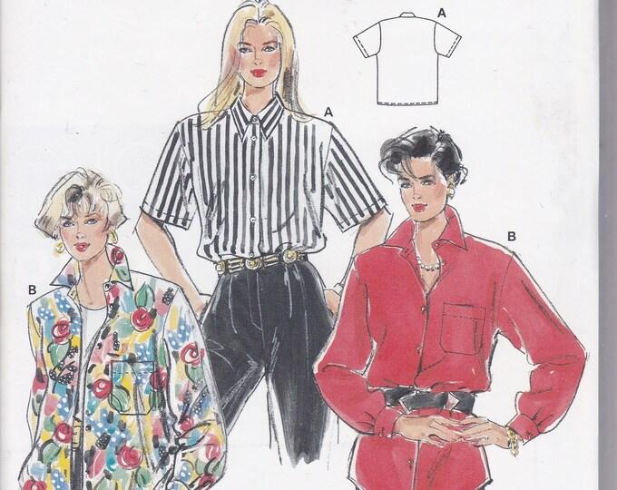 FREE US SHIP Burda 4730 Retro 90's Sewing Pattern Big shirt Size 8 10 12 14 16 18 20 22 24 26 Bust 30 32 34 36 38 40 42 44 46 48 ff