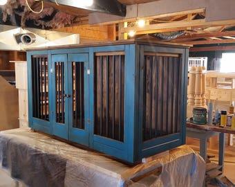 Custom buffet/TV stand kennel