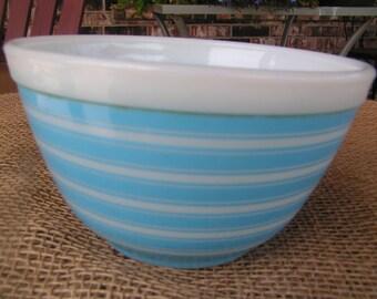 Pyrex Blue Stripe Bowl