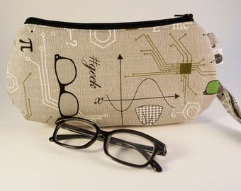 Geek Wristlet | Nerd Purse | Science Bag | Math Purse | Girls in Science | Science  Clutch | Graduate Gift | Teacher Present