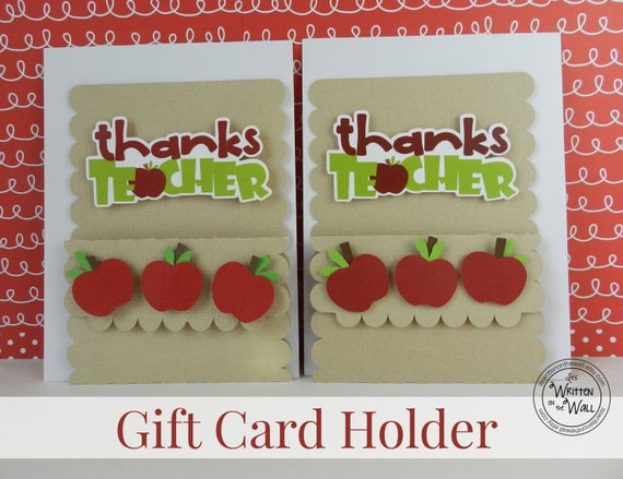 Kits apple thanks teacher gift card holders teacher negle