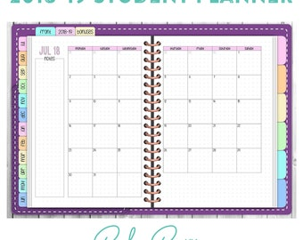 2018-19 Dated Digital Student Planner - Purple Cover