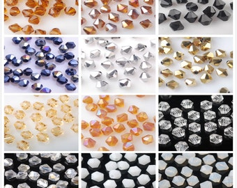 Hot 100pcs 6x6mm Exquisite Facted Rondelle Bicone Loose Spacer Crystal Glass Beads Charm Jewelry Making Findings --- Multi Color JZ004-1/52