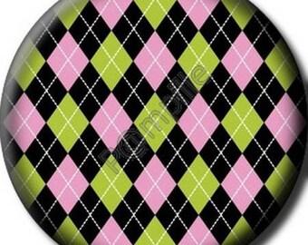 Cabochon resin 25 mm - diamond pattern - (709) stick