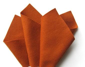 Wool Felt, Copper, Choose Size, 100% Merino, Soft Felt, Nonwoven Wool, Waldorf Crafts, Primitive Color, Autumn Crafts, Fox DIY, Applique