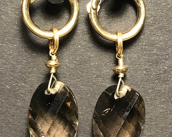 Swarovski Crystal and Gold-filled Earrings