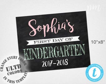First Day Of School Sign, Back To School Chalkboard Sign, Back To School Sign, 1st Day Of School Sign, First Day Of Kindergarten Sign Prop