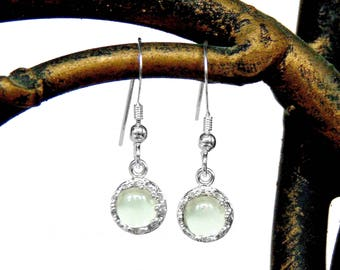 Green Amethyst Earrings I Sterling Silver