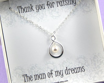 Mother of the Groom Necklace Gift, Mother Of The Groom Necklace, Mother in Law Thank You Gift, Wedding, Mother in Law Necklace