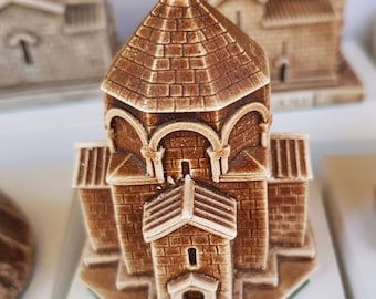 Handmade from gypsum. (1) The church under the name (Voske Par) (2) The church under the name (Ani)