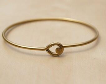 Gold Loop Bicycle Spoke Bracelet