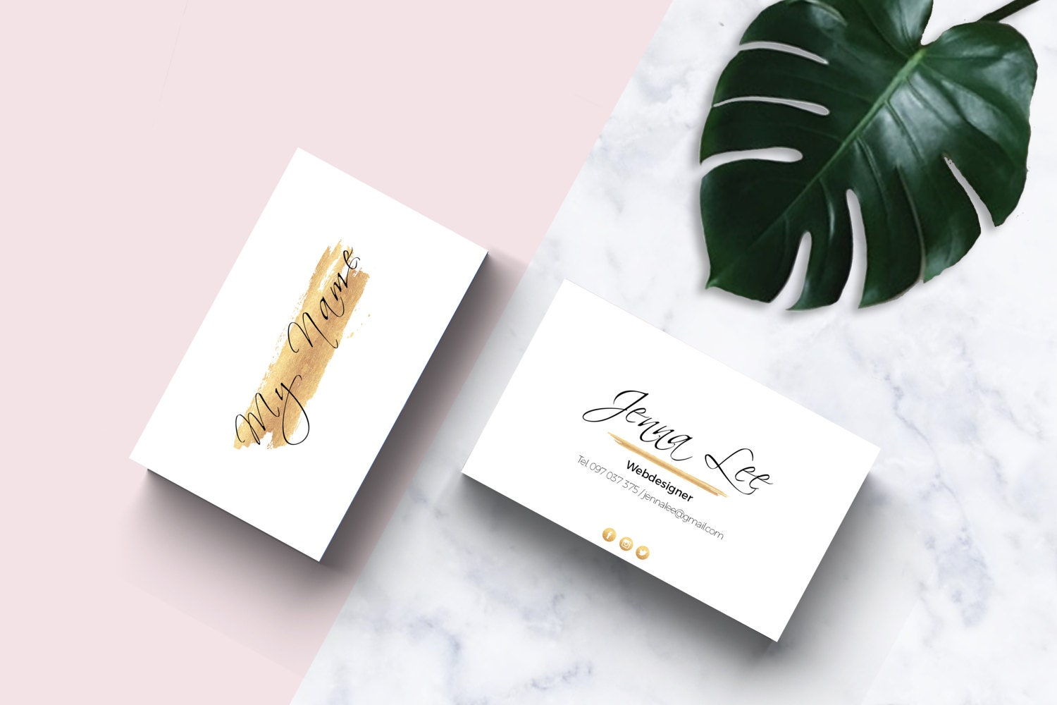 Gold Business Card Template / business card design / Small