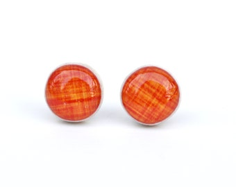 Tangerine Stud Earrings • 5 Fun Colors Available • Gifts For Her • Simple Everyday Earrings • Dainty Earrings