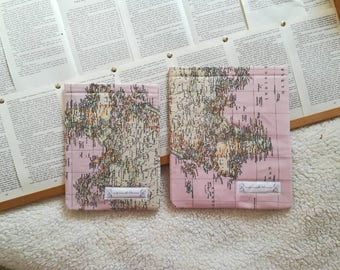 Quilted Cover Map Mundi Rosa