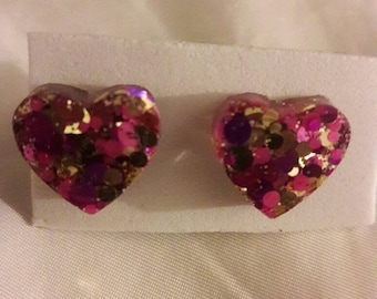 Be my heart stud earrings