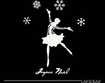 cuts scrapbooking woman skater Word Merry Christmas snowflake dress character character embellishment Scrapbook die cuts
