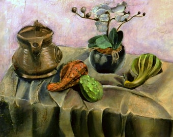 Art Print - Still Life with Gourds