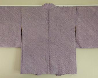 Women's, vintage purple and black color shibori Haori kimono jacket
