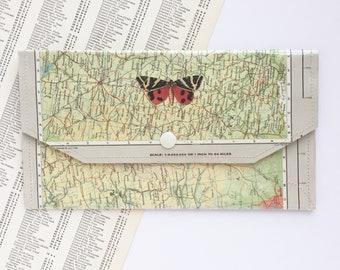 Vintage Map& Vinyl - Travel Envelope