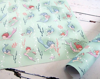 5 sheets of seababies wrapping paper