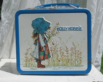 "Vintage Alladdin brand lunch box ""Holly Hobbie"" circa 1980's."