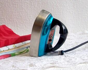 Mini Iron. Soviet Vintage Travel Iron. Retro Gadget for Ironing.