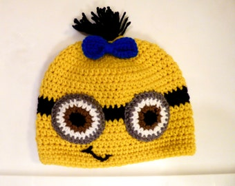 Crocheted Yellow Minion Hat