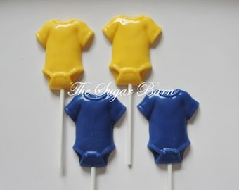 ONESIE BABY CHOCOLATE Lollipops*12 Count*Baby Shower Favor*Baby Announcement*Baby Gift*It's A Girl*It's A Boy*It's Twins*Gender Reveal