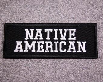 NATIVE AMERICAN Emdroidered Biker Vest Patch, New for jacket, hat, vest
