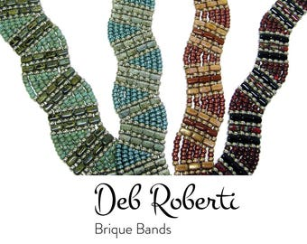 Brique Bands beaded pattern tutorial by Deb Roberti