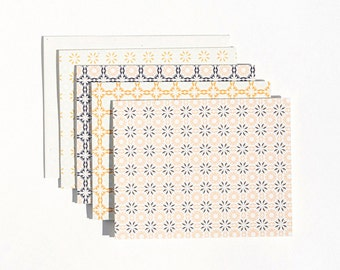Chicory Woodblock Cards : Boxed Set of 8 Blank Everyday Stationery Cards + Envelopes