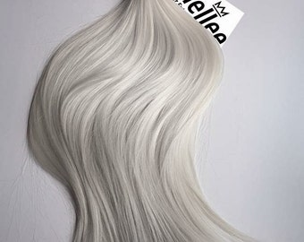 Icy Ash Blonde Tape In Hair Extensions  | Silky Straight Natural Human Hair | Seamless Tape Tabs | 20, 40, 60 & 80 Piece Sets