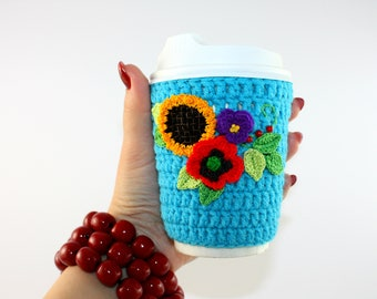 Coffee sleeve Crochet coffee cozy Coffee Cup Cover Cup cozy Crochet coffee sleeve Mug cozy Sleeve