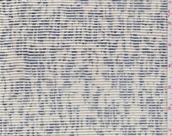 Ecru/Silver Foil Print Pleated Knit, Fabric By The Yard