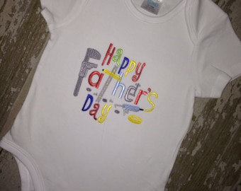 Happy Fathers day embroidered shirt