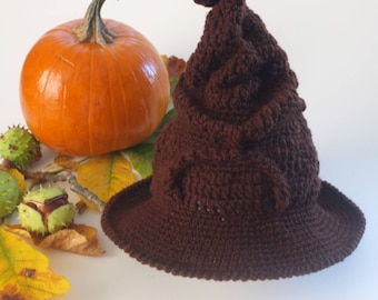 Baby Sorting Hat Halloween Costume Hat Crochet Sorting Hat Toddler Sorting Hat