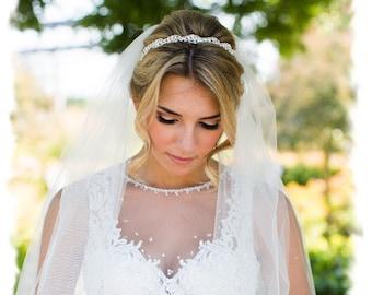 Wedding Headband, Rhinestone Bridal Headband, Jeweled Bridal Headpiece, Crystal Wedding Hair Piece, Jeweled Headband, Head Piece, No. 5050HB