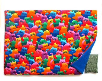 Catnip Mat plus Catnip Happy Cats Refillable Reversible