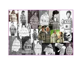 64 White Buffalo, Chinook, Cowichan Indian Sweater,hat knitting patterns DVD