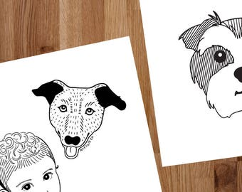 Custom/Commissioned Pet Portraits by Natalie Ex