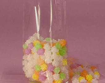 50 Clear Cello Bags (Medium), Cello Wedding Favor Bags, Cello Bags for Packaging Baked Goods, Candy, Cookies, Popcorn
