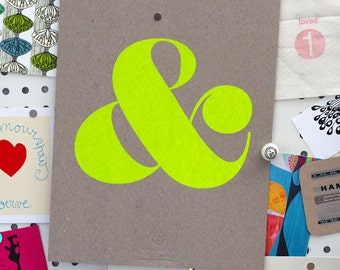 Ampersand Screen Print - Neon Yellow (3rd Edition)