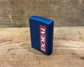 Doral Zippo Cigarette Lighter / Never Fired / Like New / Advertising / Advertisement